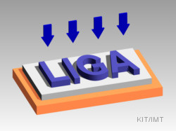 LIGA-process: Flood exposure for resist removing